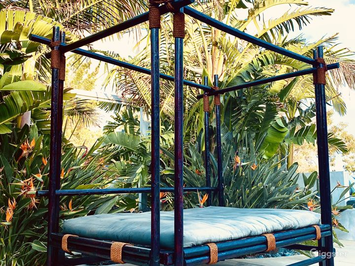 Tropical Day Bed by Pool