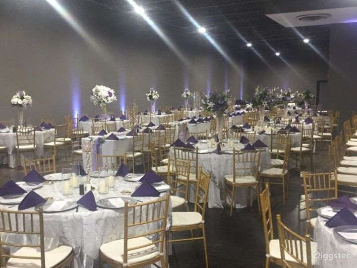 Tuxedo Ballroom rental includes tables and chairs
