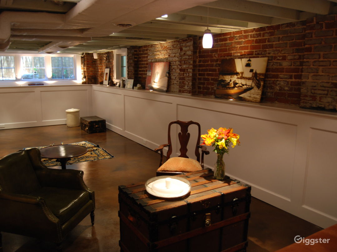 refinished cellar & art gallery
