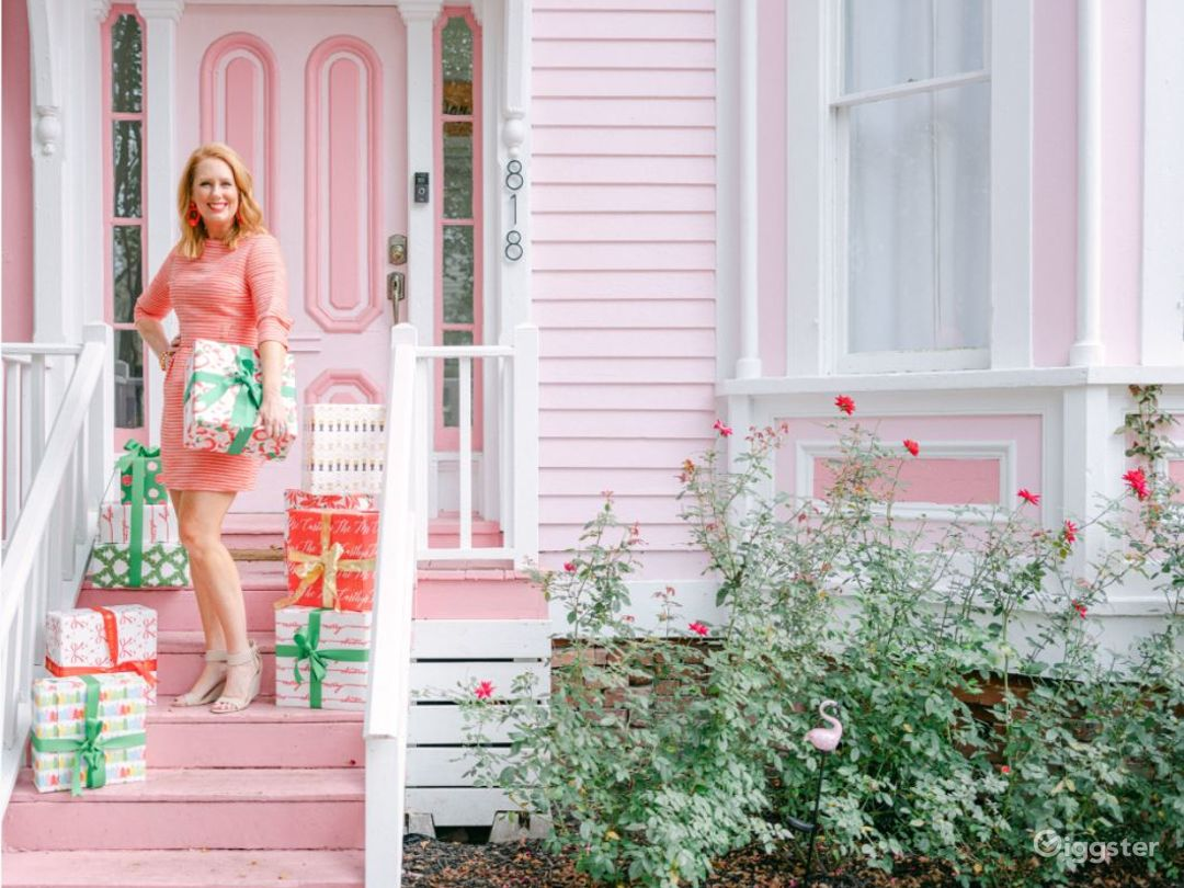 Iconic Pink Victorian Rowhouse Photo 1