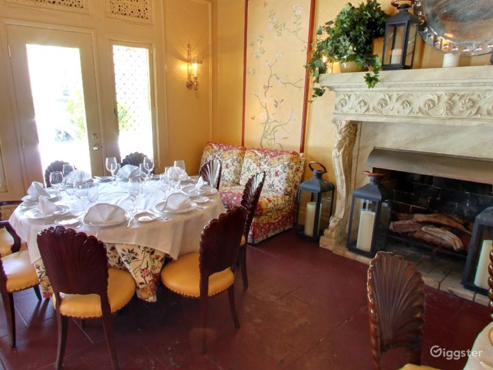 Warm and Cozy Private Dining Space in Palm Beach