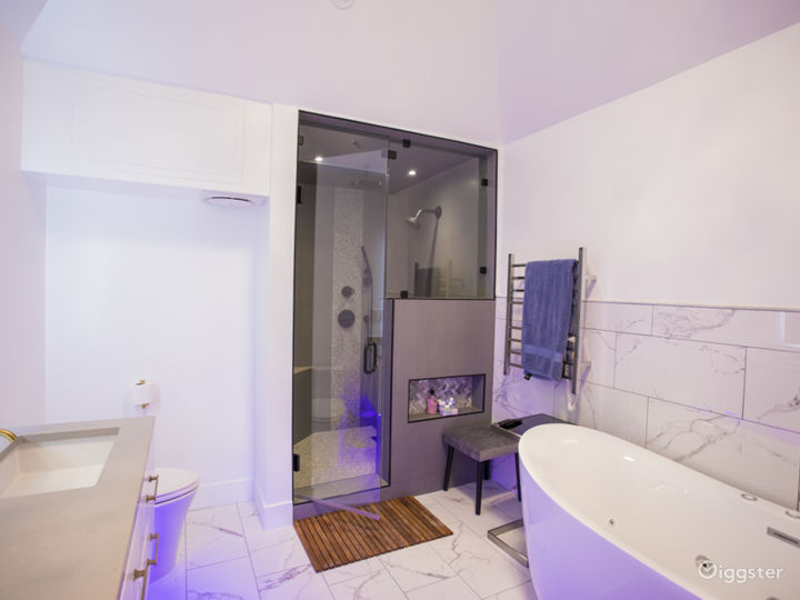 Vaulted Master bath with Steam Room