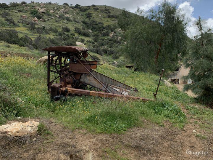 Old hay bailer.