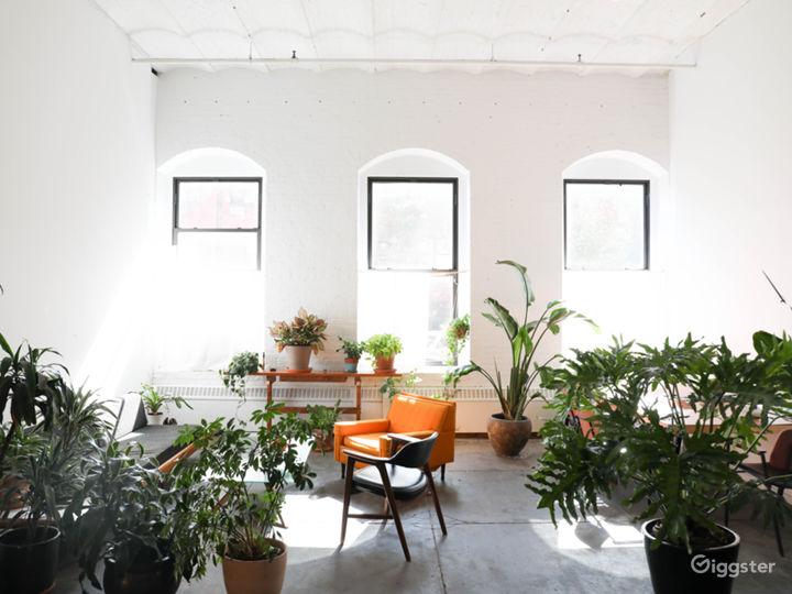 Bright Plant Filled Brooklyn Industrial Loft Photo 2
