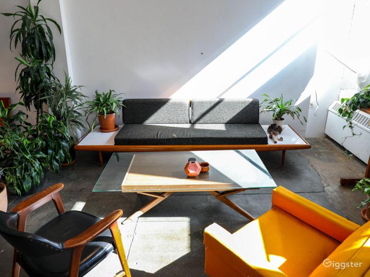 Bright Plant Filled Brooklyn Industrial Loft Photo 5