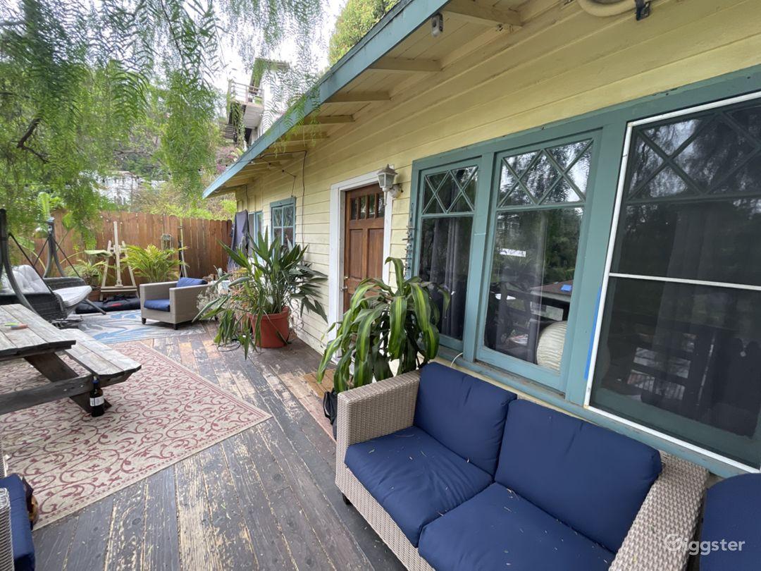 The porch deck