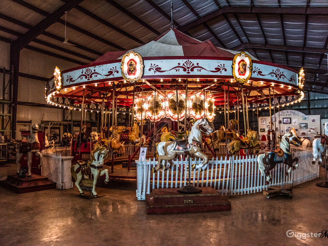Museum Building- a 1916 antique wooden carousel (fully operational)