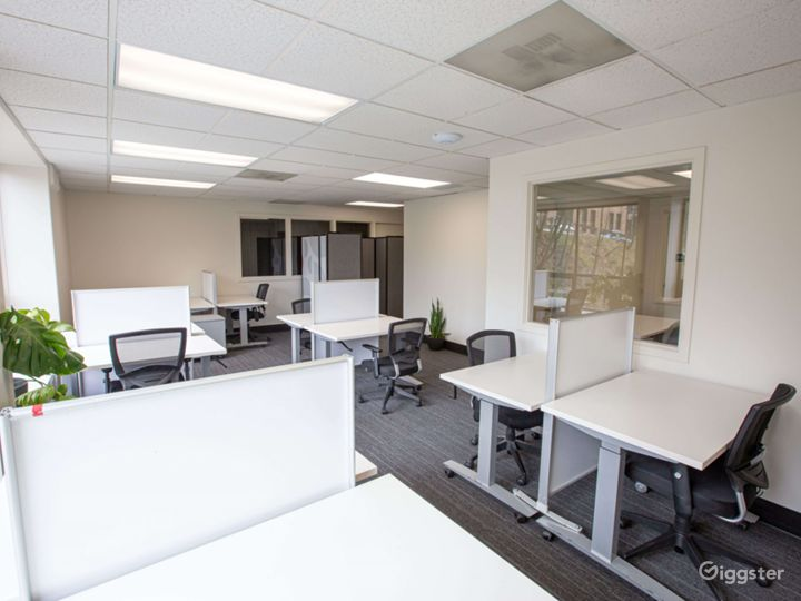 Our dedicated desk area; a great balance for those who seek office spaces, but prefer working around others!