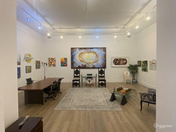 Spacious Art Gallery in Miami, Florida