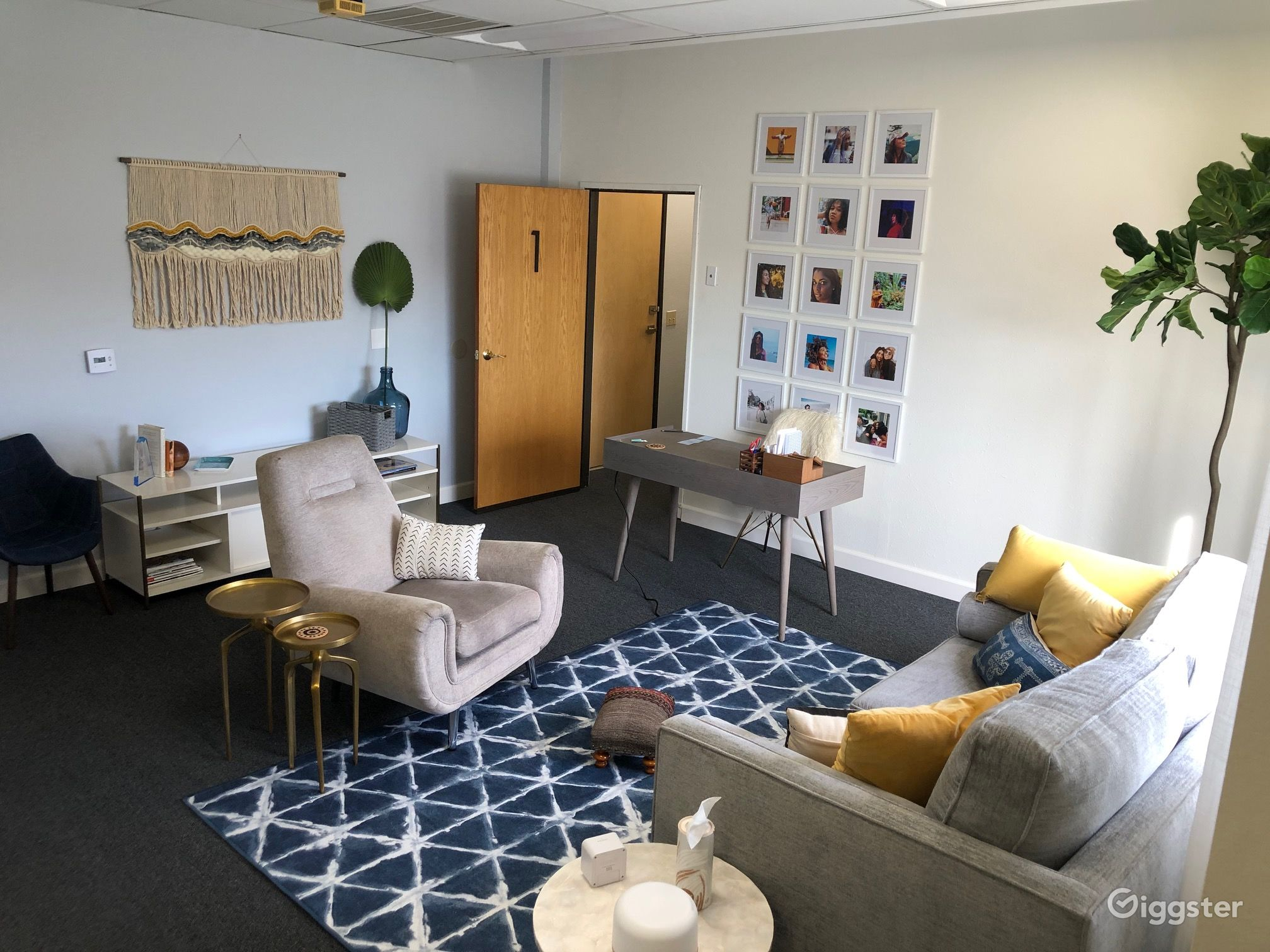 Westside Midcentury Modern Office with Boho Vibe