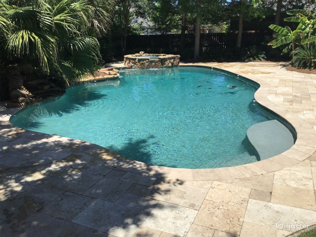 Pool with tropical garden