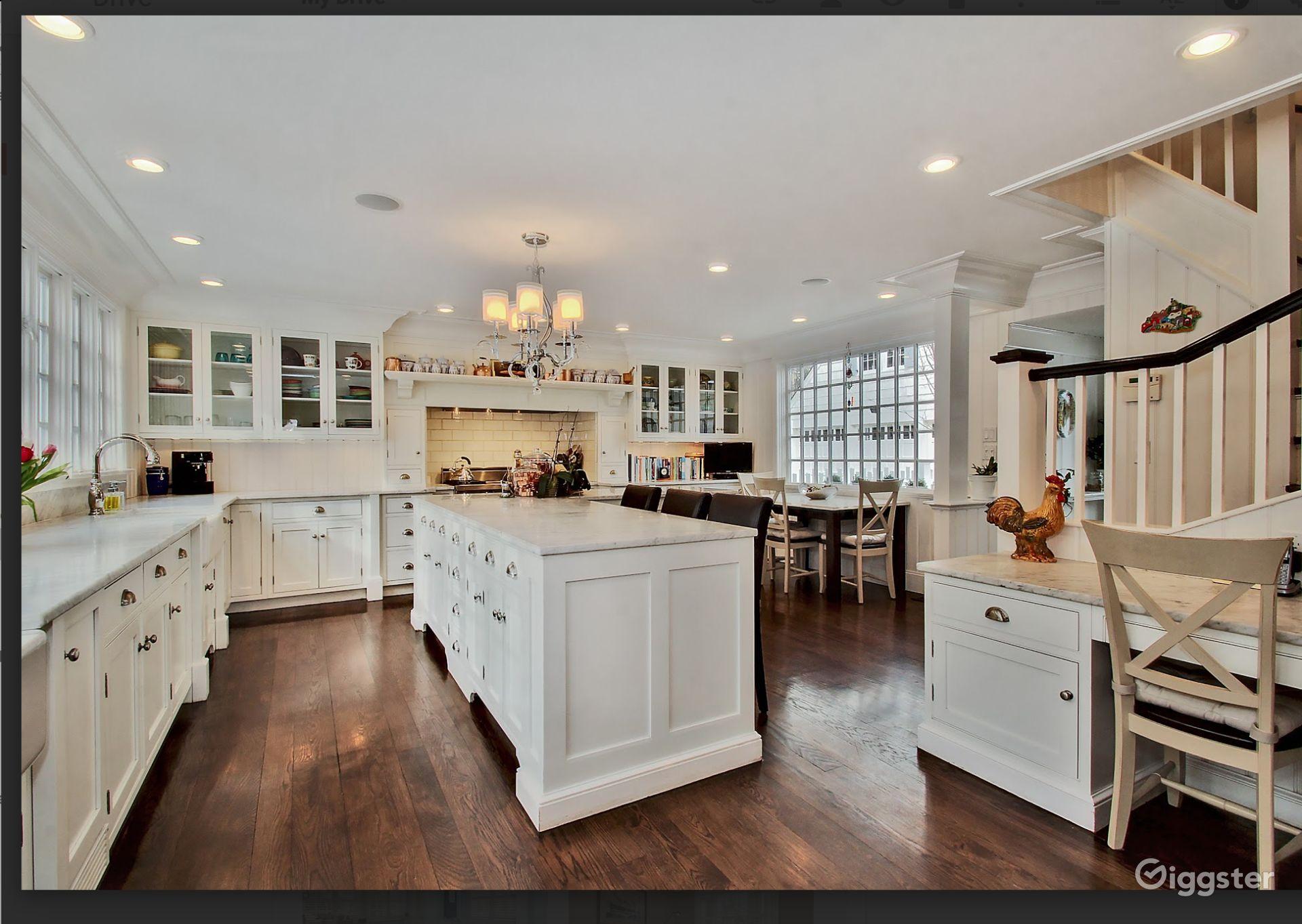 Kitchen in Colonial Mansion in Hempstead New York Rental