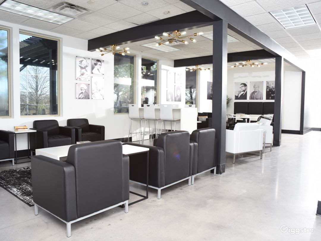 Modern Lounge with Café Area Photo 1