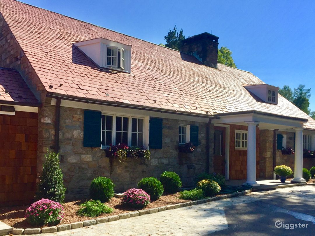 Classic French Inspired Stone House in Connecticut Photo 2