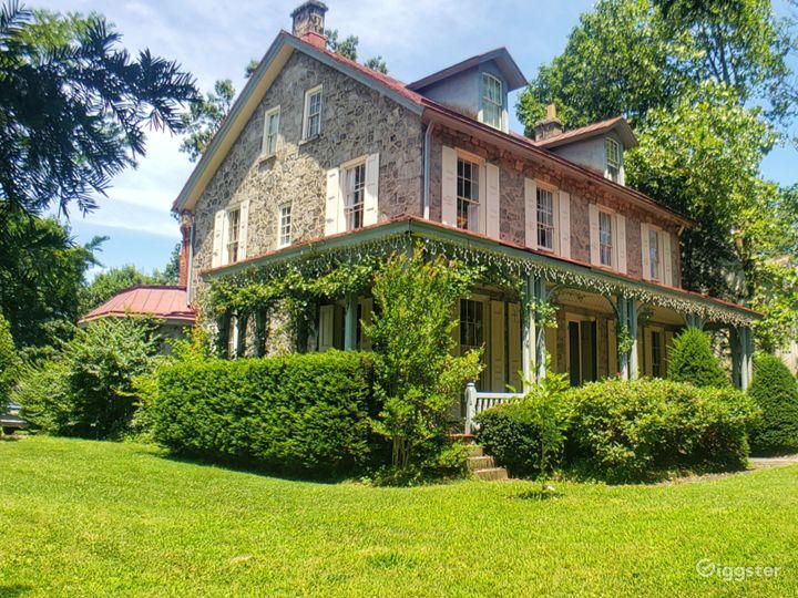 1850ies Quaker built large single in historic Germ