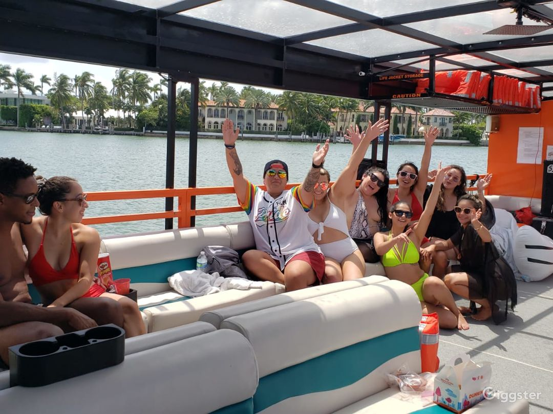 Wide and Serene 49FT PONTOON BOAT Party Boat Space Events Photo 1