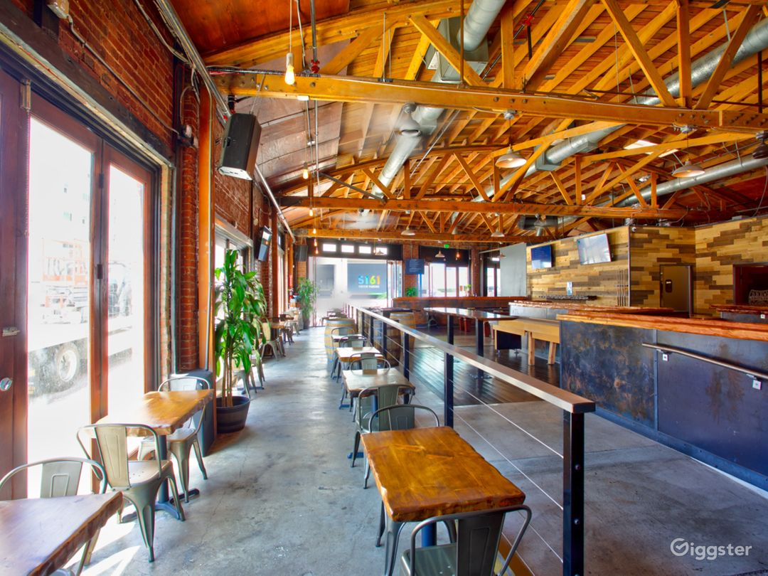 The Brews Brothers Craft Beer Bar has unique indoor / outdoor features.  The location can be a daylight studio for still photography and video production.