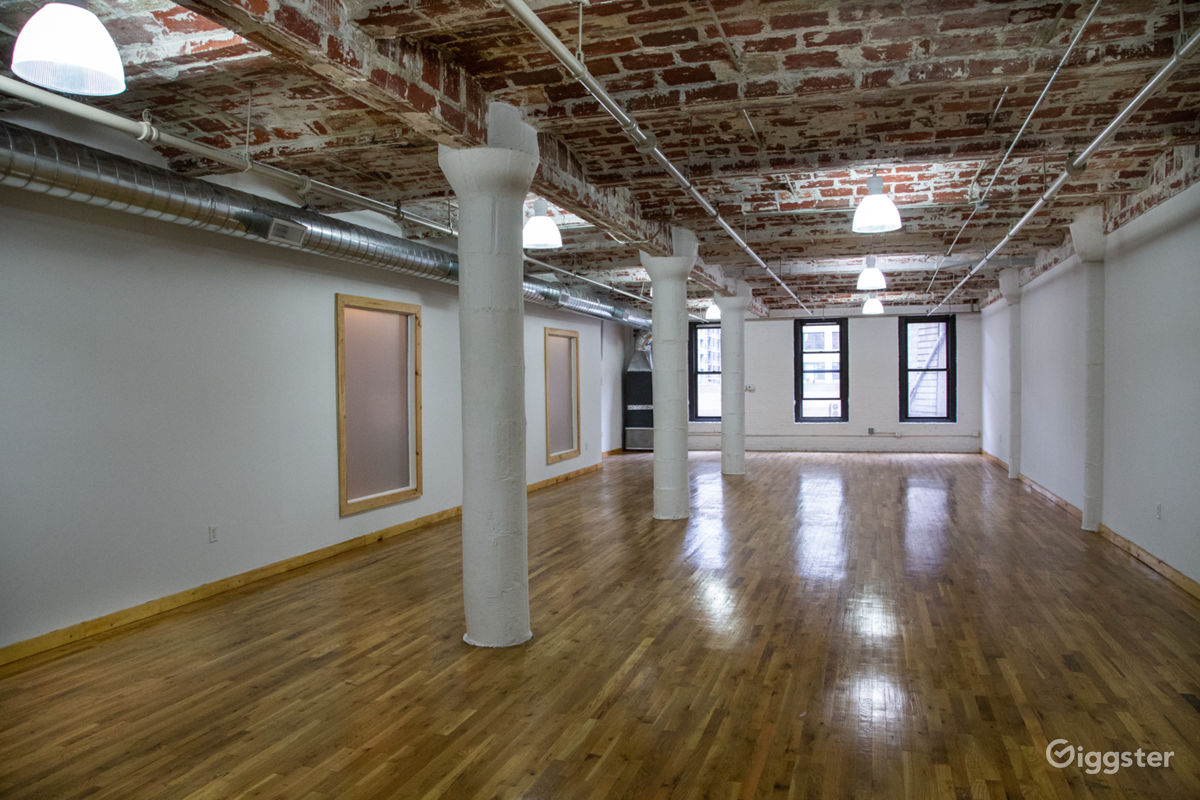 An industrial loft space in prime DUMBO