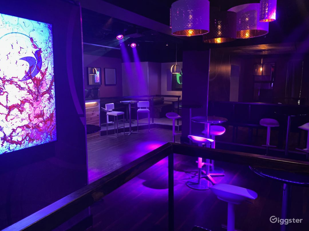 Dancefloor with state of the art lighting and video system.