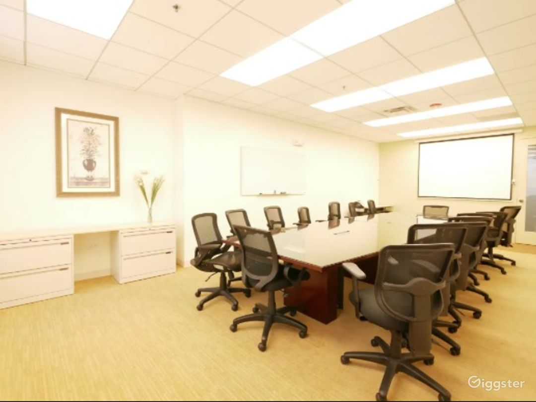 Clean and Complete Boardroom/Conference Meeting Venue w/ Screen, Handicap & 24/7 access Photo 1