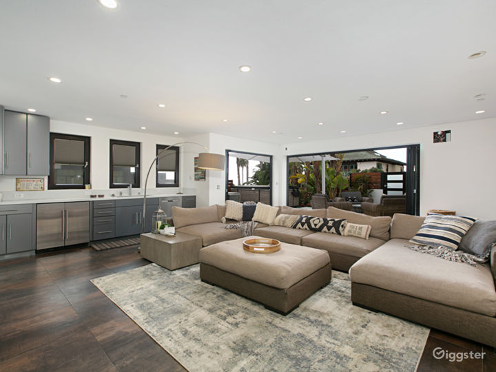 Downstairs is a large family/TV room that leads out onto the front yard