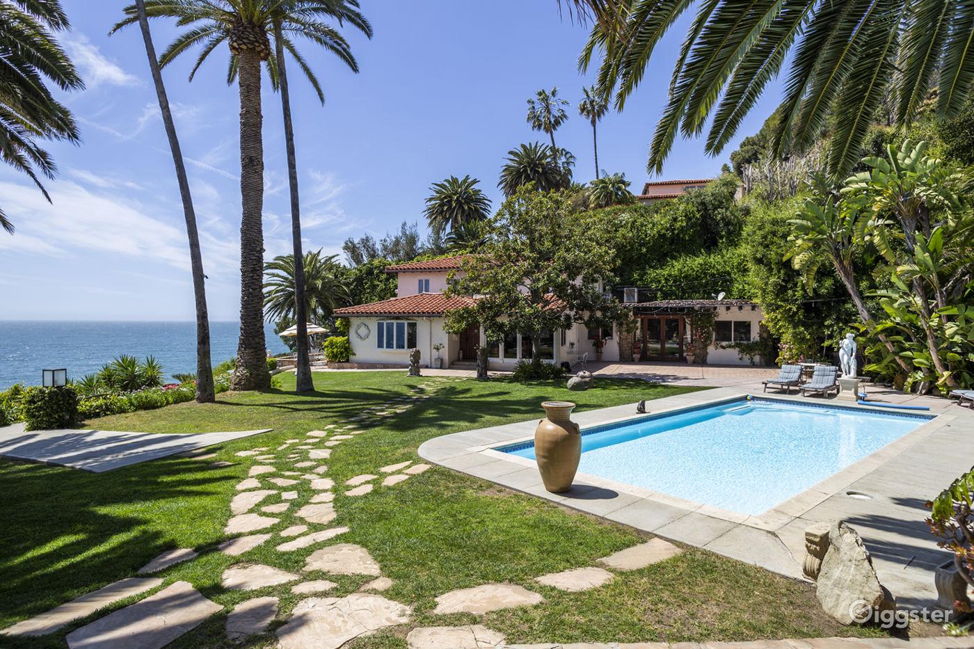 Tropical Villa w/ Pool Overlooking the Ocean in Malibu Los Angeles Rental