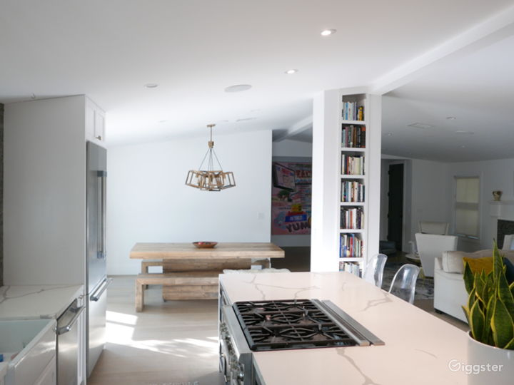 Kitchen overlooking living room