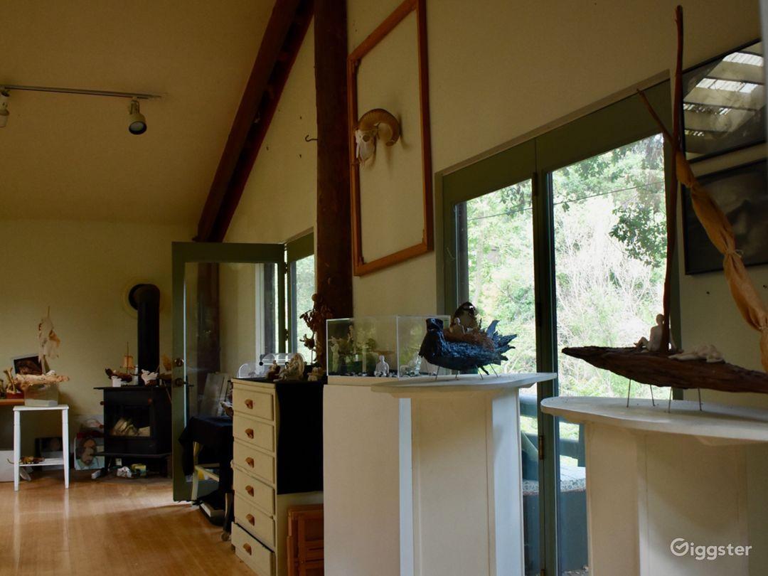 Upstairs studio interior