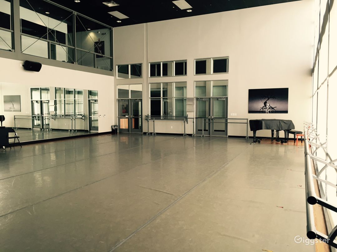 Beautiful Windowed Dance Studio Photo 2