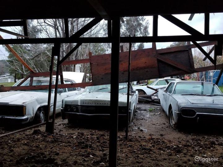 Abandoned cars and mechanic garage at Ranch Photo 2