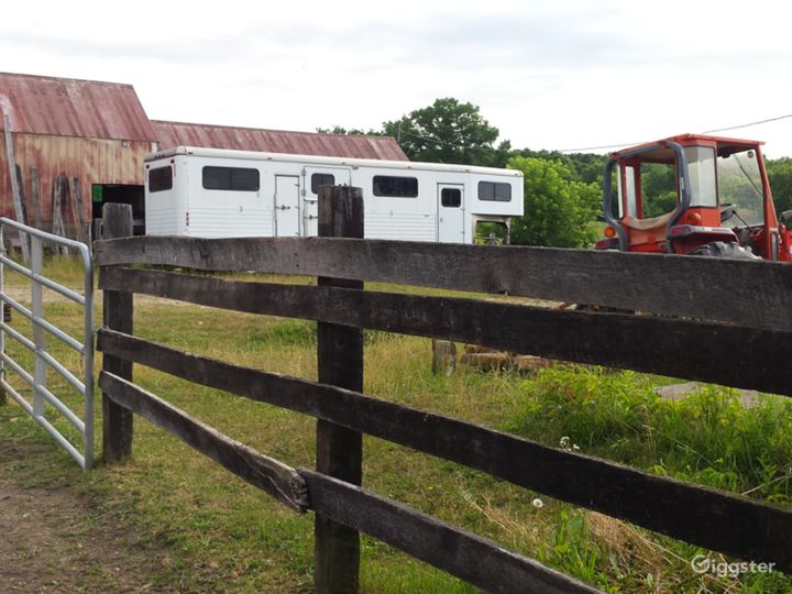 """4 horse head-to-head gooseneck horse trailer, 7'6"""" inside, side ramps, very inviting to horses"""