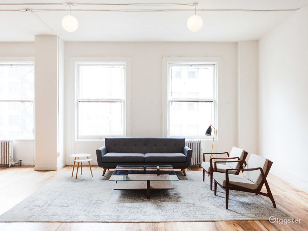 Minimalist Living & Dining Area Photo 1