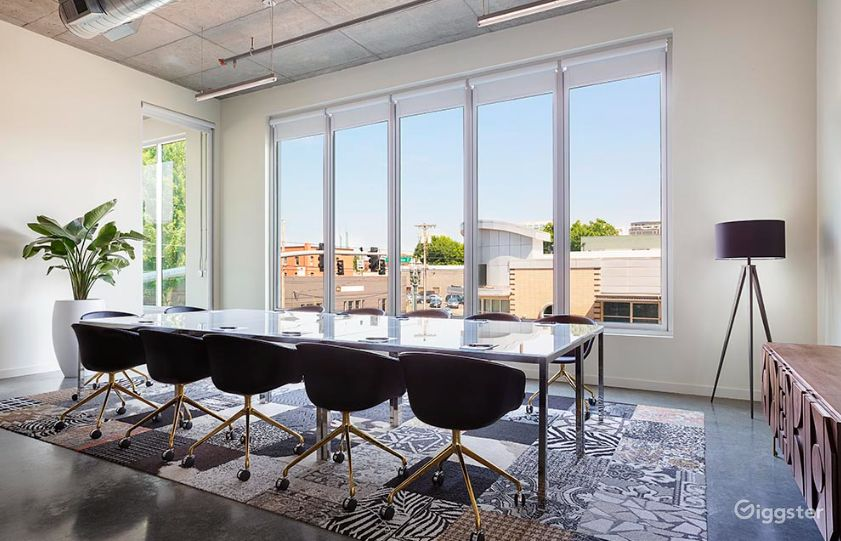 Modern boardroom with city views Photo 1