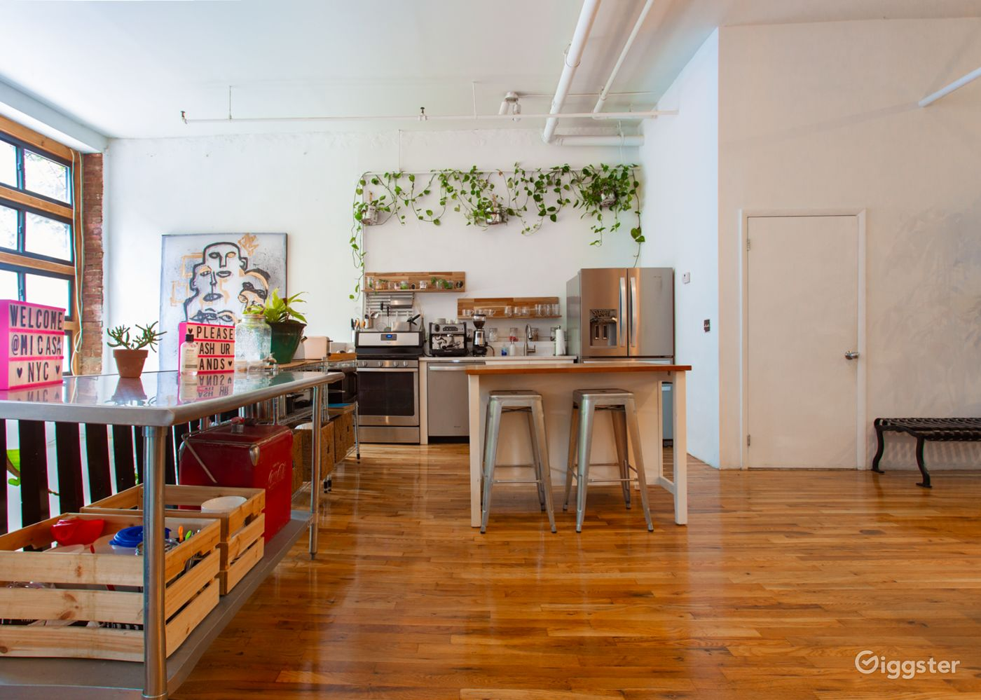 Sunlit Studio Kitchen in Williamsburg New York Rental