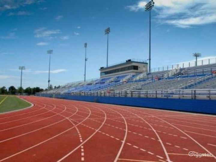 Athletics field with running track: Location 4262 Photo 5