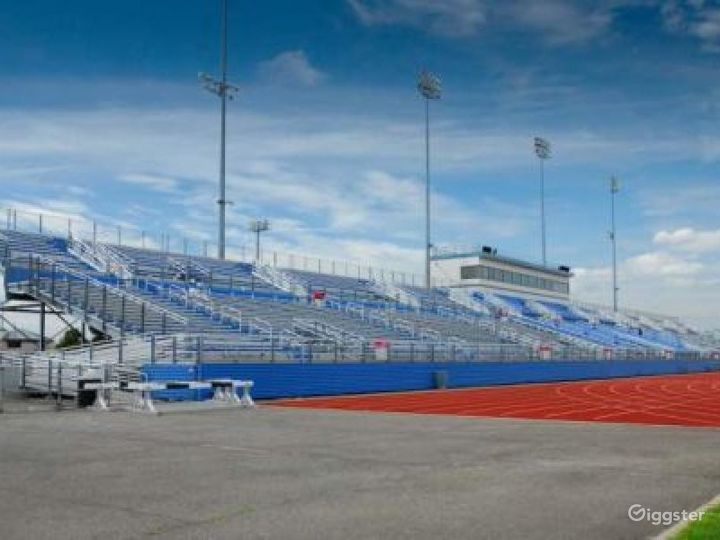 Athletics field with running track: Location 4262 Photo 4