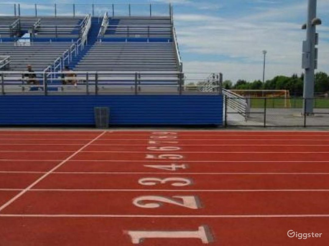 Athletics field with running track: Location 4262 Photo 1