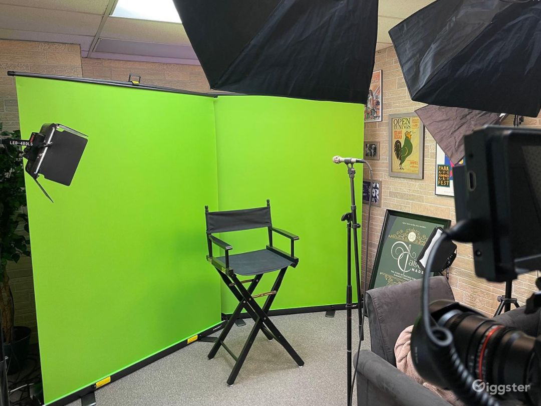 Legacy Studio Includes Lights, Green Screens, Mics, 2 Cameras and Operator Photo 1