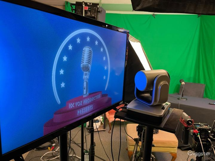 Legacy Studio Includes Lights, Green Screens, Mics, 2 Cameras and Operator Photo 3