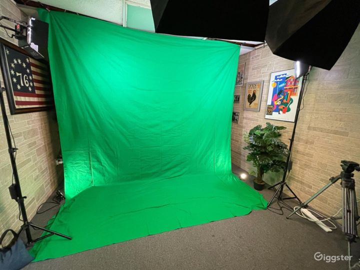 Legacy Studio Includes Lights, Green Screens, Mics, 2 Cameras and Operator Photo 2