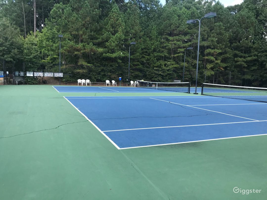 A Beautiful Tennis Court in Raleigh Photo 1