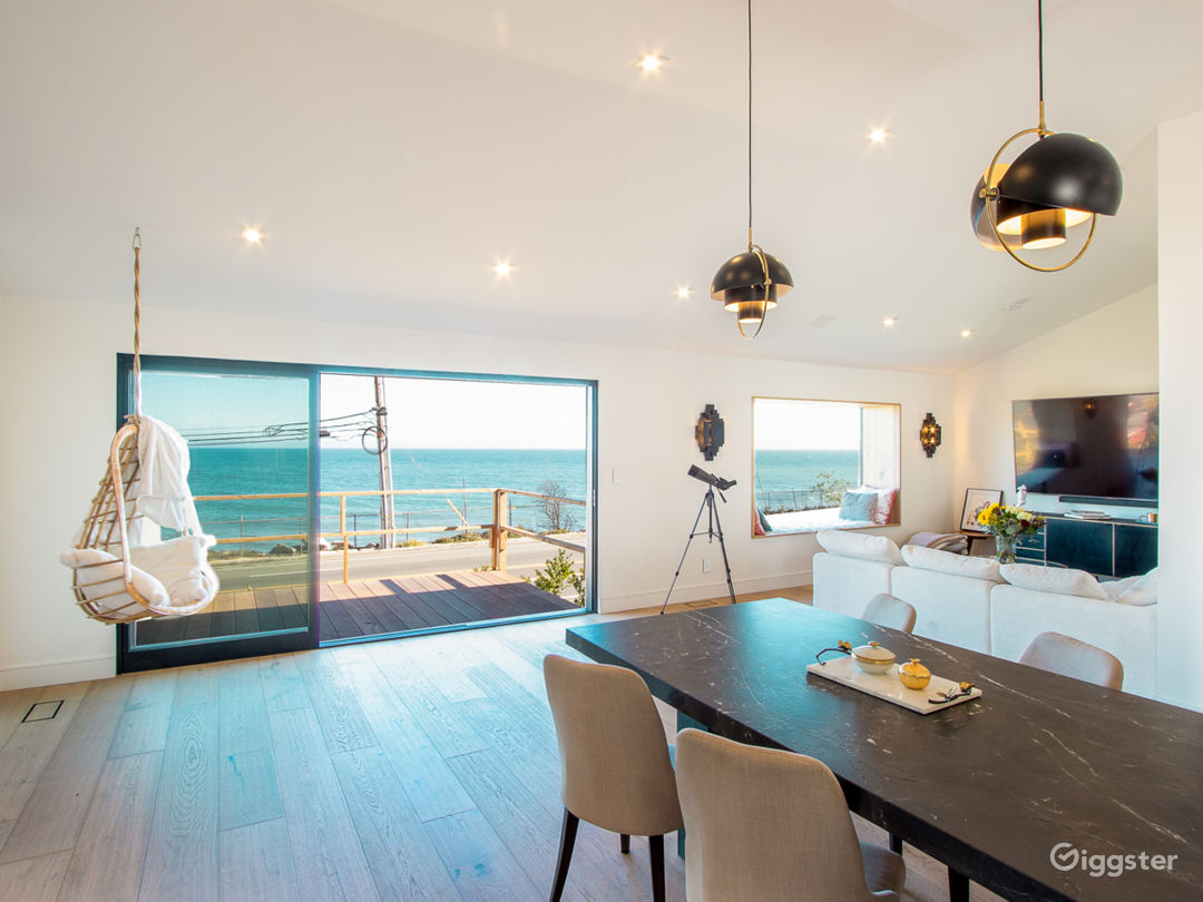 ocean view from the open concept kitchen