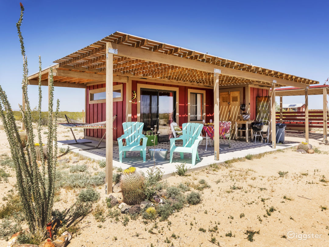 Exterior of Sunrise Cabin + Patio