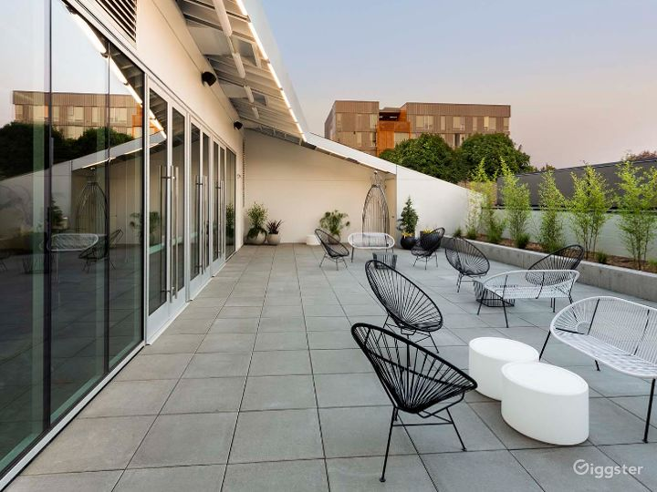 Outdoor industrial patio