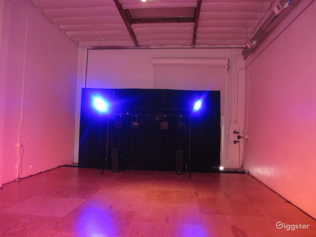 Stage gives you much to work with and the AV is set up for dancers and performances.