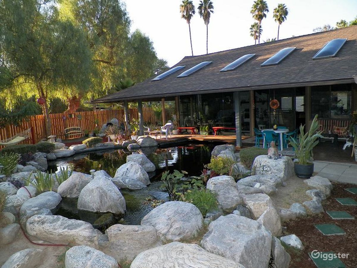 rent zen ranch house with large koi pond house residential for