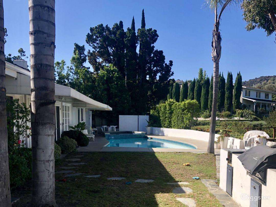Backyard view facing south