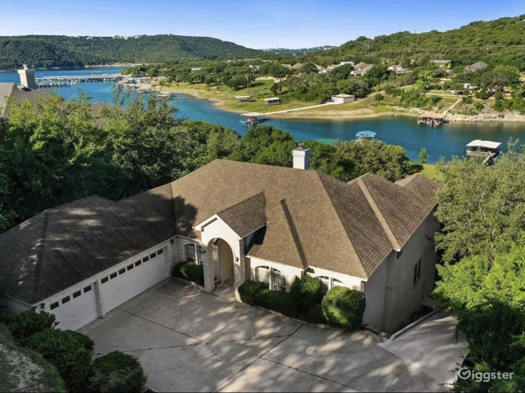 This beautiful home is located on Lake Travis.