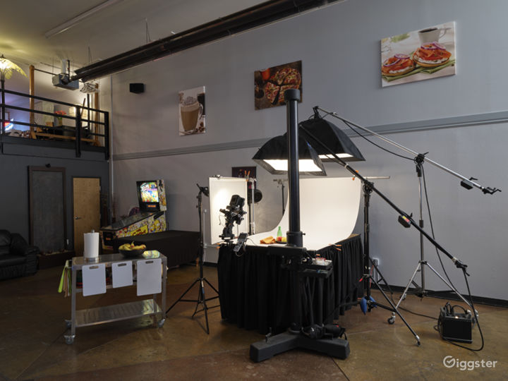 Small product set in studio