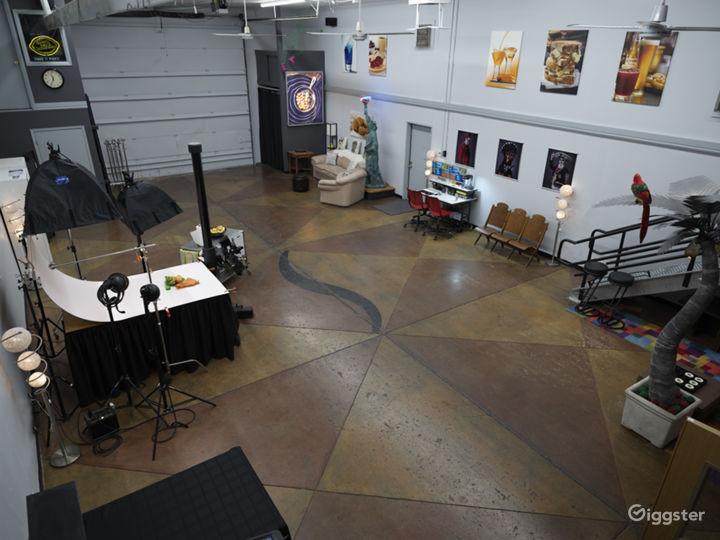 Balcony view of studio space